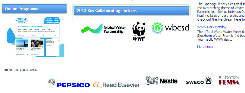 screenshot http://www.worldwaterweek.org/