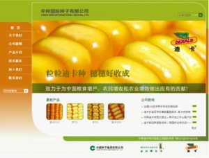 screenshot China International Seed Company