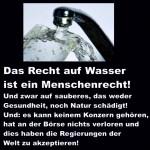 Erfolg für die Bürgerinitiative 'Wasser als Menschenrecht' –  Wasser ist keine Handelsware