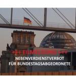 EILMELDUNG: Verbot von Nebeneinkünften für Abgeordnete