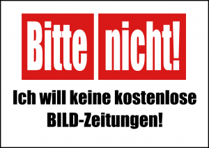 """Welch eine Verschwendung! Am 06. Juni erhalten 41 Millionen Haushalte Gratis-Ausgabe der """"Bild""""-Zeitung"""