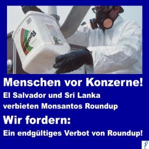 Wir fordern: Ein endgültiges Verbot von Roundup!