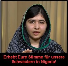 Mutige Malala: Rede zu den Vorfällen in Nigeria