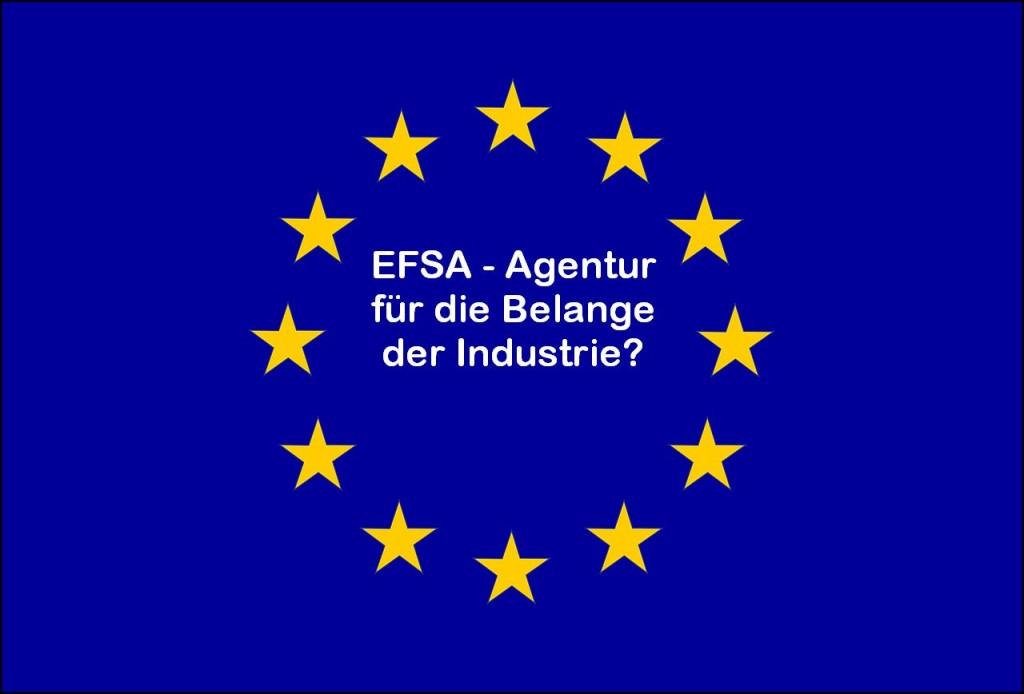 Europa-Flagge mit EFSA-Beschriftung