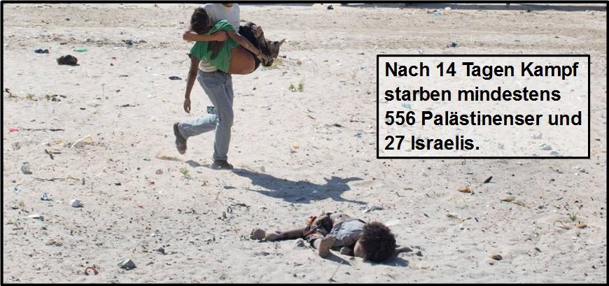 Der Tribut in Gaza und Israel, Tag für Tag