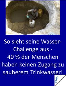 So sieht seine Wasser-Challenge aus