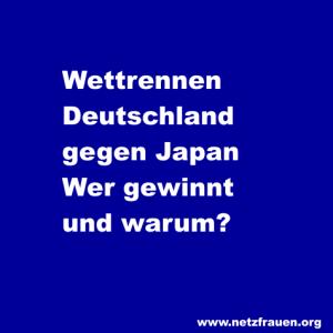 Wettrennen Deutschland gegen Japan  – wer gewinnt und warum?