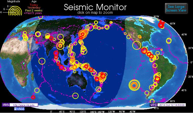 vorgekommender erdbeben in südamerika