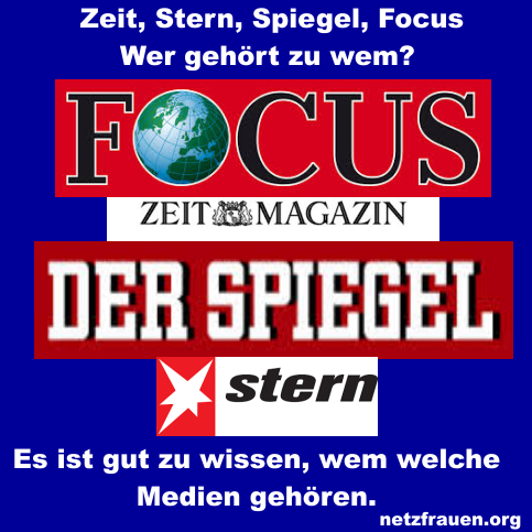 Zeit, Stern, Spiegel, Focus – Wer gehört zu wem?