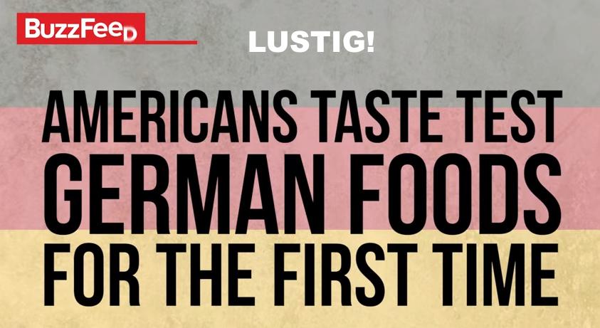 Lustiges Video gibt Antwort: Amerikaner probieren zum ersten Mal deutsches Essen! Americans Try German Food For The First Time