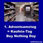 Machen Sie mit: Kaufen Sie nix – Buy Nothing Day