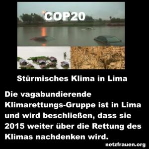 Stürmisches Klima in Lima