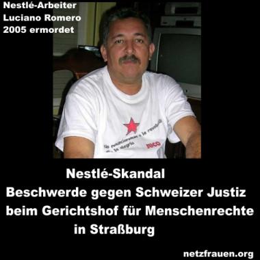 Nestlé-Skandal – Beschwerde gegen Schweizer Justiz am Europäischen Menschenrechtsgericht