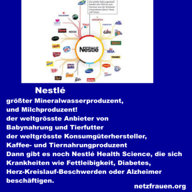 Nestlé ist nicht nur der weltgrößte Mineralwasserproduzent, sondern auch Milchunternehmer