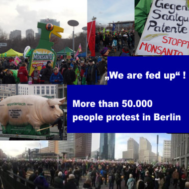 "Pictures from Protest ""We are fed up""! More than 50.000 people protested in Berlin"