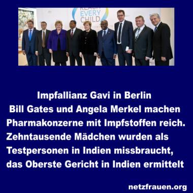 Impfallianz – Bill Gates und Merkel machen Pharmakonzerne mit Impfstoffen reich – Zehntausende Mädchen als Testpersonen missbraucht