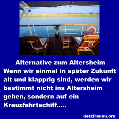 Alternative zum Altersheim – Kreuzfahrtschiff