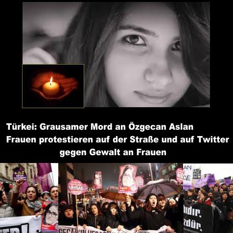 Türkei: Grausamer Mord an Özgecan Aslan – Frauen protestieren auf der Straße und auf Twitter