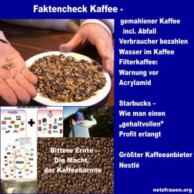 "Faktencheck Kaffee – gemahlener Kaffee incl. Abfall und ""bittere"" Ernte"