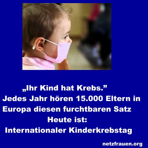 15. Februar 2015 – Internationaler Kinderkrebstag