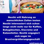 Nestlé will Nahrung an menschlichen Zellen testen