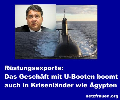 Rüstungsexporte: Das Geschäft mit U-Booten boomt – auch in Krisenländern wie Ägypten