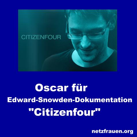 """Oscar für Snowden-Film """"Citizenfour"""""""