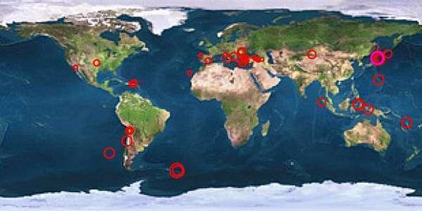 Mehrere Erdbeben (6.9, 4.9, 5.8) in der Nähe von Fukushima