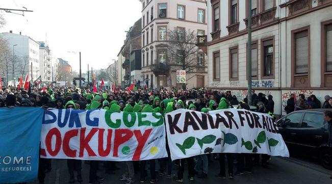 Blockupy – Krawall und friedliche Demonstration – 10.000 protestieren in Frankfurt gegen EZB