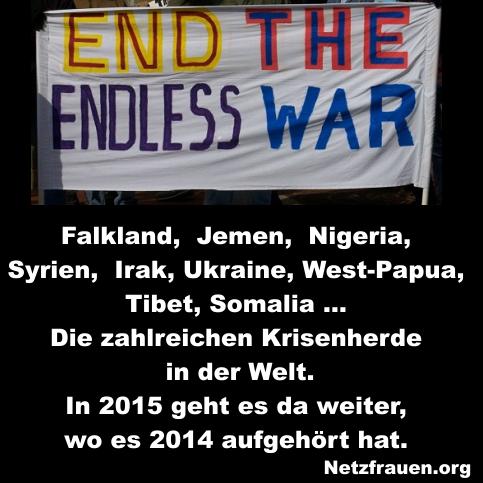 Falkland,  Jemen,  Nigeria,  Syrien, Irak, Ukraine … Die zahlreichen Krisenherde in der Welt