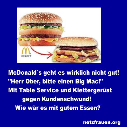 """""""Herr Ober, bitte einen Big Mac!"""" Mit Table-Service und Klettergerüst gegen Kundenschwund"""
