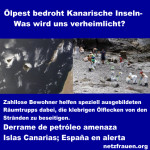 Ölteppich bedroht Kanarische Inseln – Was wird uns verheimlicht? – Derrame de petróleo amenaza Islas Canarias; España en alerta
