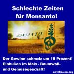 Schlechte Zeiten für Monsanto – Der Gewinn schmolz um 15 Prozent!