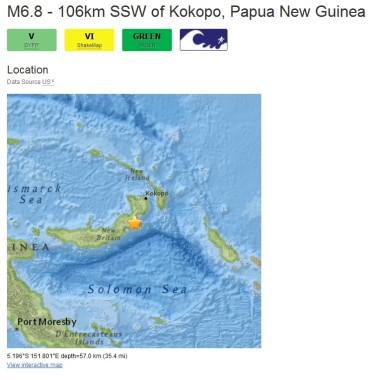Papua Erdbeben