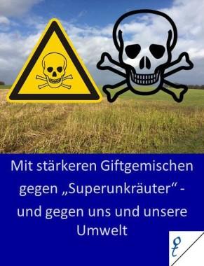 Stärke Gifte gegen Superunkräuter