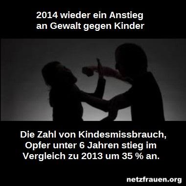 Sexuelle Gewalt und Kindesmissbrauch – neue traurige Zahlen aus 2014