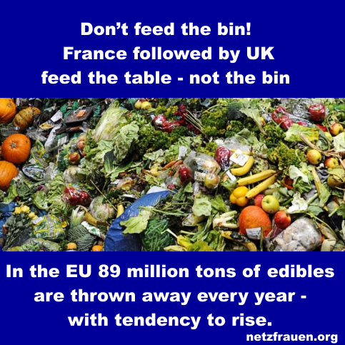 Don't feed the bin! France followed by UK – feed the table – not the bin