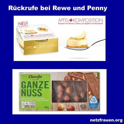 Gleich zwei Produkte aus Supermärkten der Rewe Group: Glassplitter im Dessert, Plastik in der Schokolade
