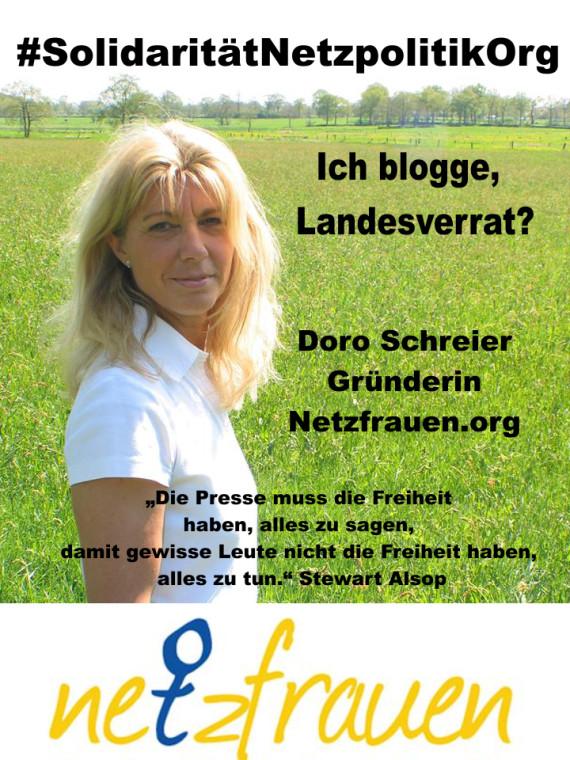 Netzfrauen bloggen auch – Landesverrat? ANGRIFF AUF DIE WELTWEITE PRESSEFREIHEIT !