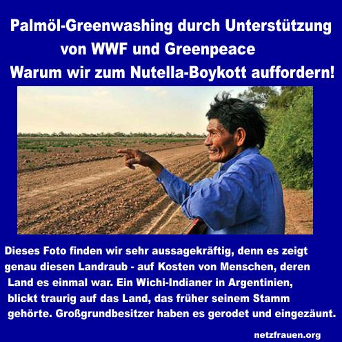 Palmöl – Greenwashing durch Unterstützung von WWF und Greenpeace – Warum wir zum Nutella-Boykott auffordern