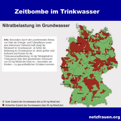 KREBSGEFAHR DURCH TRINKWASSER – Besonders betroffen sind Gebiete mit intensiver Tierhaltung und Biogasanlagen