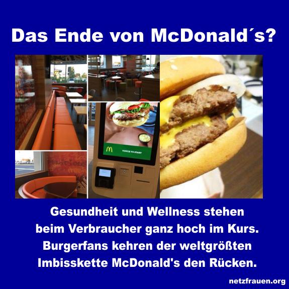 Das Ende von McDonald's?