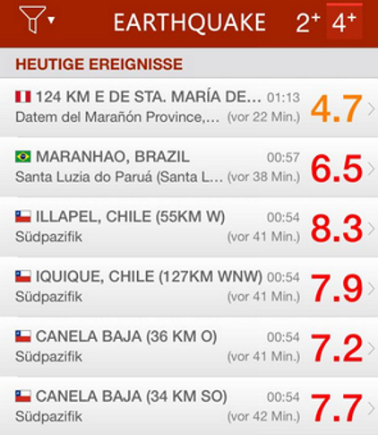 Schweres Erdbeben in Chile – Tsunamiwarnung – 5 dead and 1 million evacuated after 8.3 magnitude earthquake hits Chile