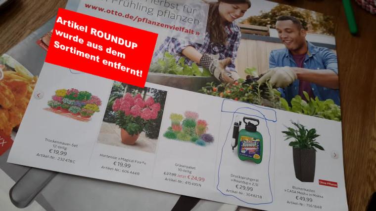 Handelskonzern Otto und Hagebau entfernen Roundup von Monsanto aus Sortiment