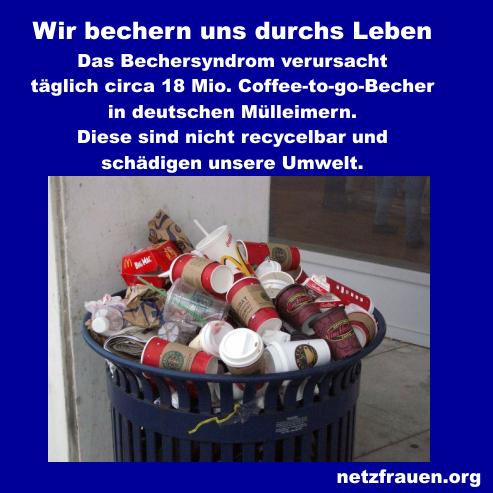 """""""Coffee to go"""" – Das Bechersyndrom und seine """"schmutzigen"""" Folgen"""
