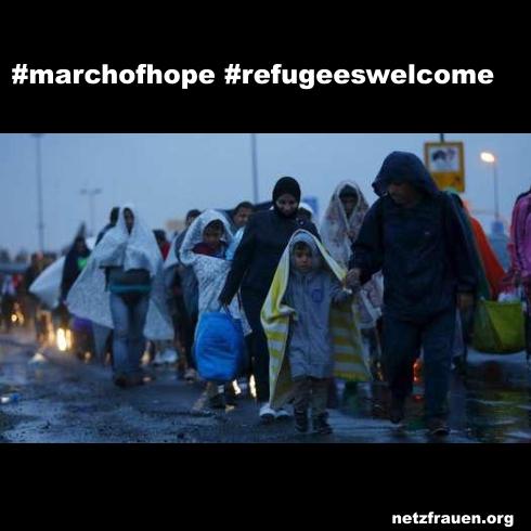March of Hope – Flüchtlinge erreichen Österreich – Thank you Austria