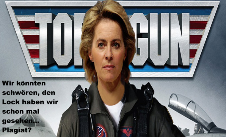 Eine Schönwetter-PR-Schau für Ursula von der Leyen -  Die Inszenierung auf dem Militärflugplatz für Drohnen incl. Maulkorb für Journalisten!