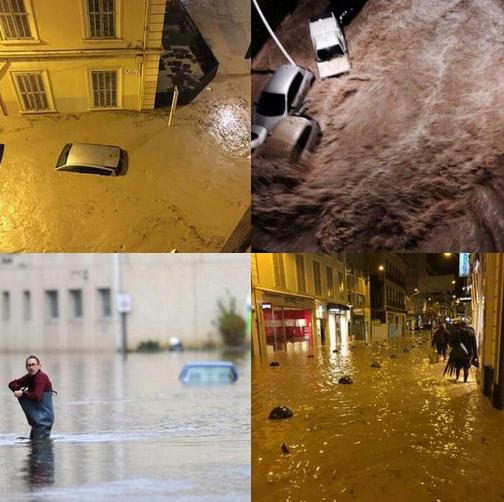 Voraussichtlich 17 Tote bei schweren Unwettern in Südfrankreich