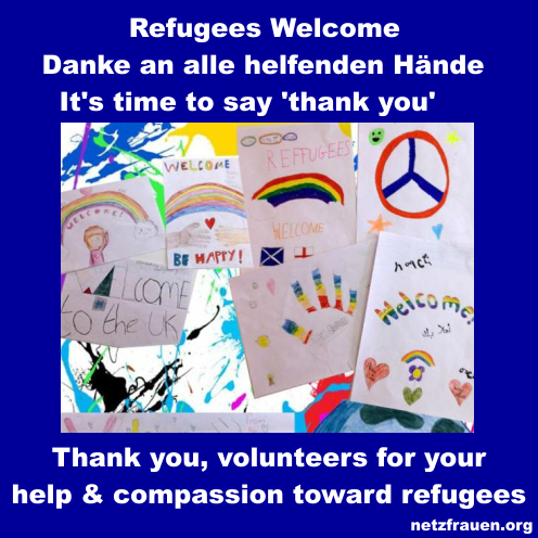 Refugees Welcome – Danke an alle helfenden Hände  – It's time to say 'thank you'