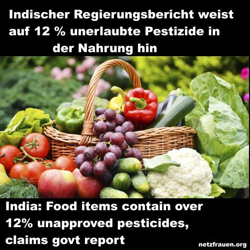 Indien: Tödliche Pestizide auf dem Teller – India: Pesticides In Food
